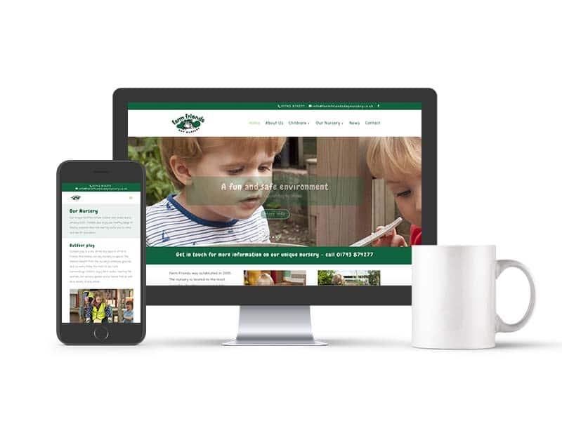 Farm Friends web design