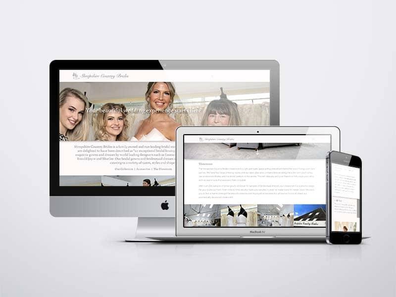 Shropshire Country Brides website design