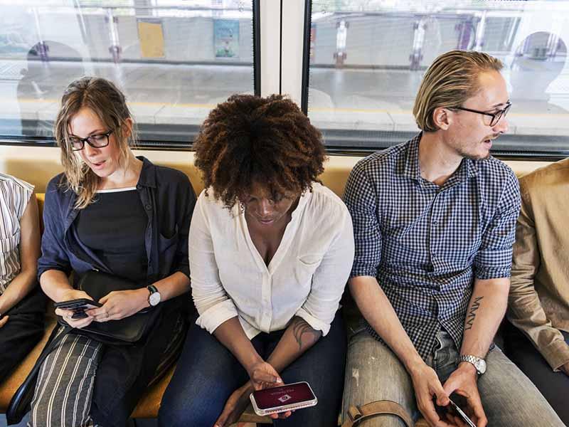 Social media train