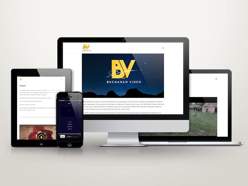 Buchanan video brand and website design by Squeak
